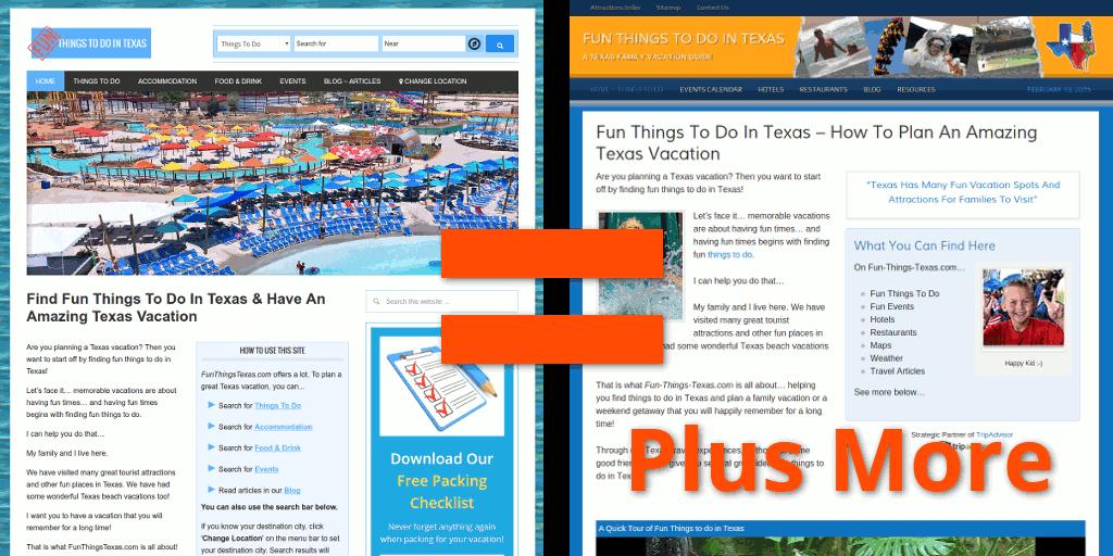 New FunThingsTexas vs old Fun-Things-Texas